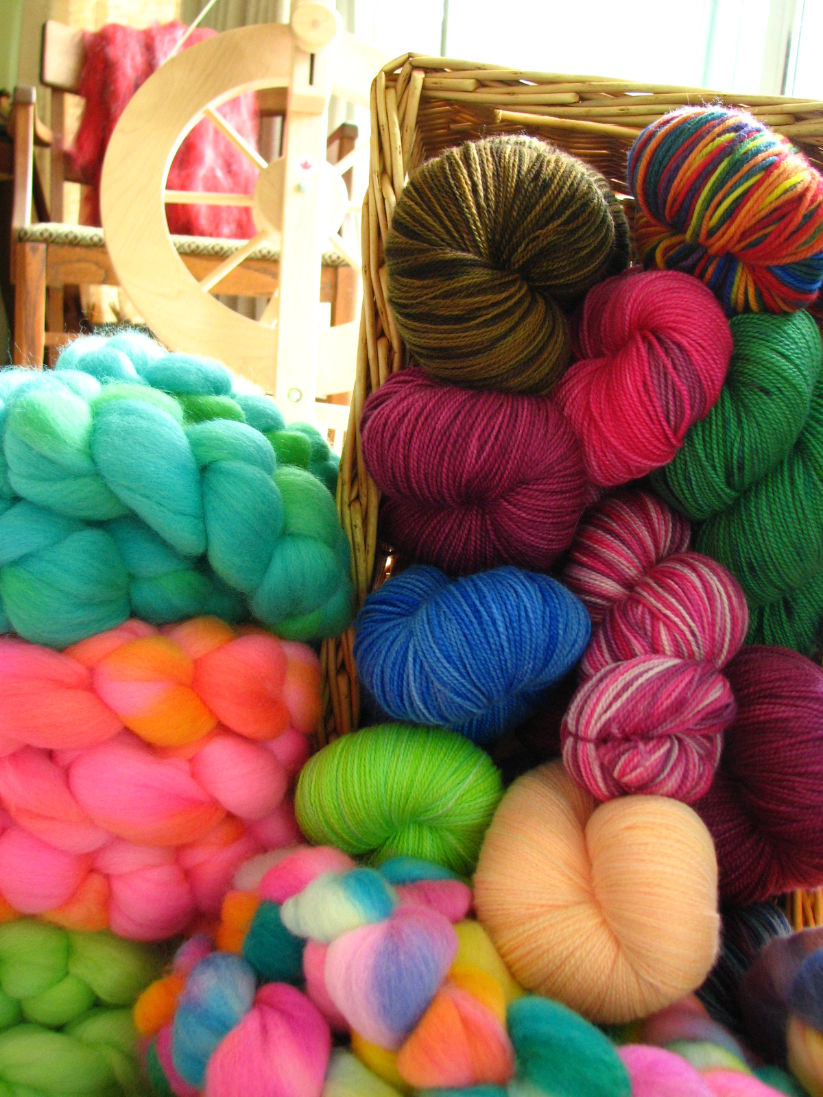 Hand Dyed Yarn and Roving by ThePaintedTiger