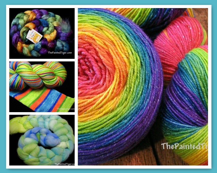 Hand Dyed Sock Yarn and Wool for Spinning by The Painted Tiger